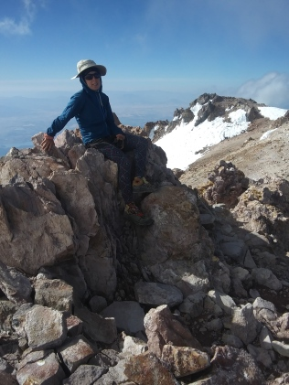 """Ok Ok Ya i climbed the mountain. Lets go down now please"""
